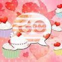 GO SMS Pro Theme cupcake heart logo