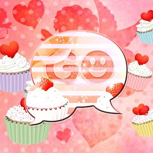 GO SMS Pro Theme cupcake heart