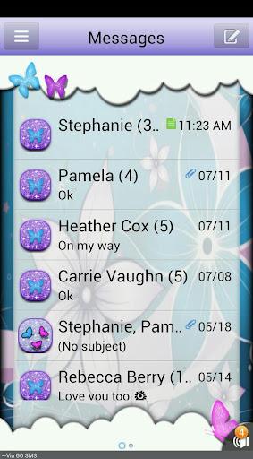 ButterflyFantasy3 GO SMS THEME