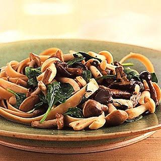 Pasta with Wild Mushroom Sauce.