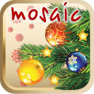 Christmas tree children mosaic for PC and MAC