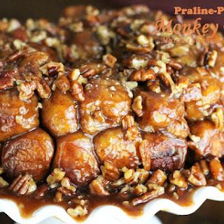 Praline-Pecan Monkey Bread [Using Rhodes Fozen Yeast Rolls]