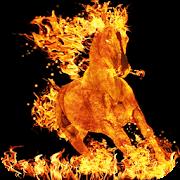 Burning Horse Live Wallpaper