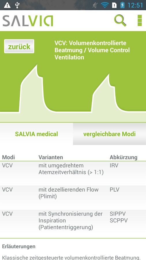 SALVIA Mode Finder – Screenshot