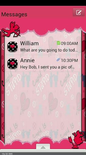 GO SMS THEME StupidCupid4U