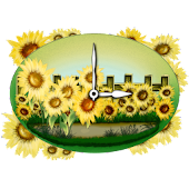 Sunflower Clock Widget