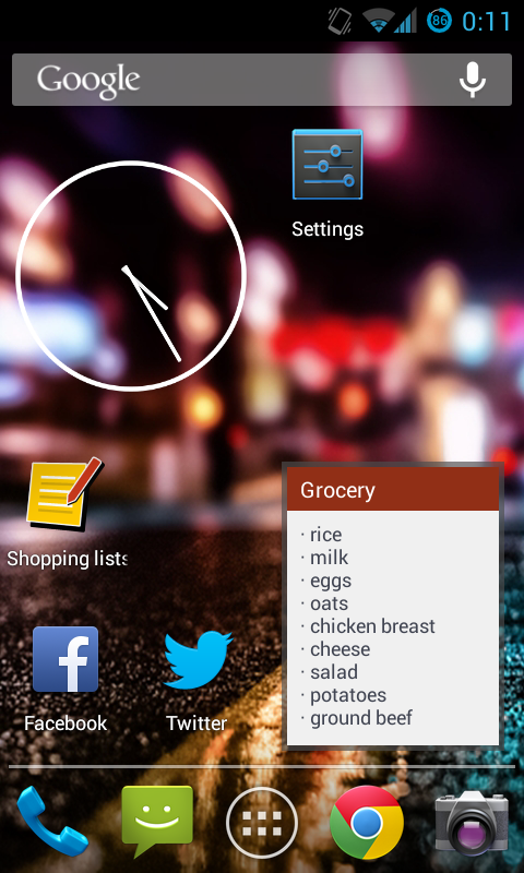 Shopping Lists (with widget) - screenshot