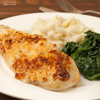 Oven-Baked Fish with Caesar Topping.