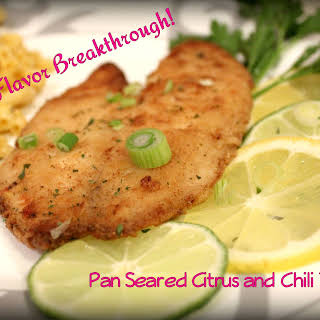 Pan Seared Citrus and Chili Tilapia.