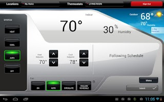 Screenshot of Total Connect Comfort