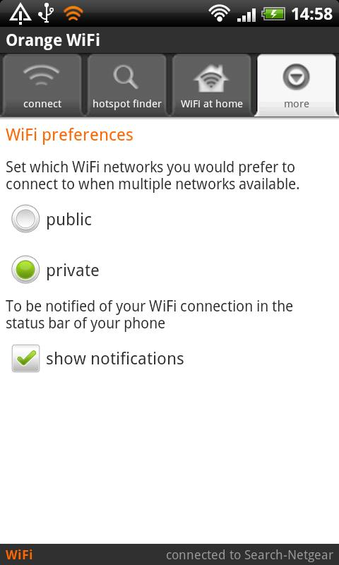 Orange WiFi - screenshot