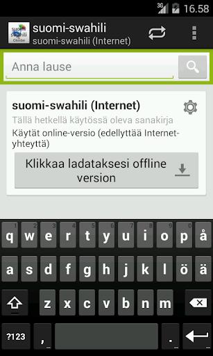 Finnish-Swahili Dictionary