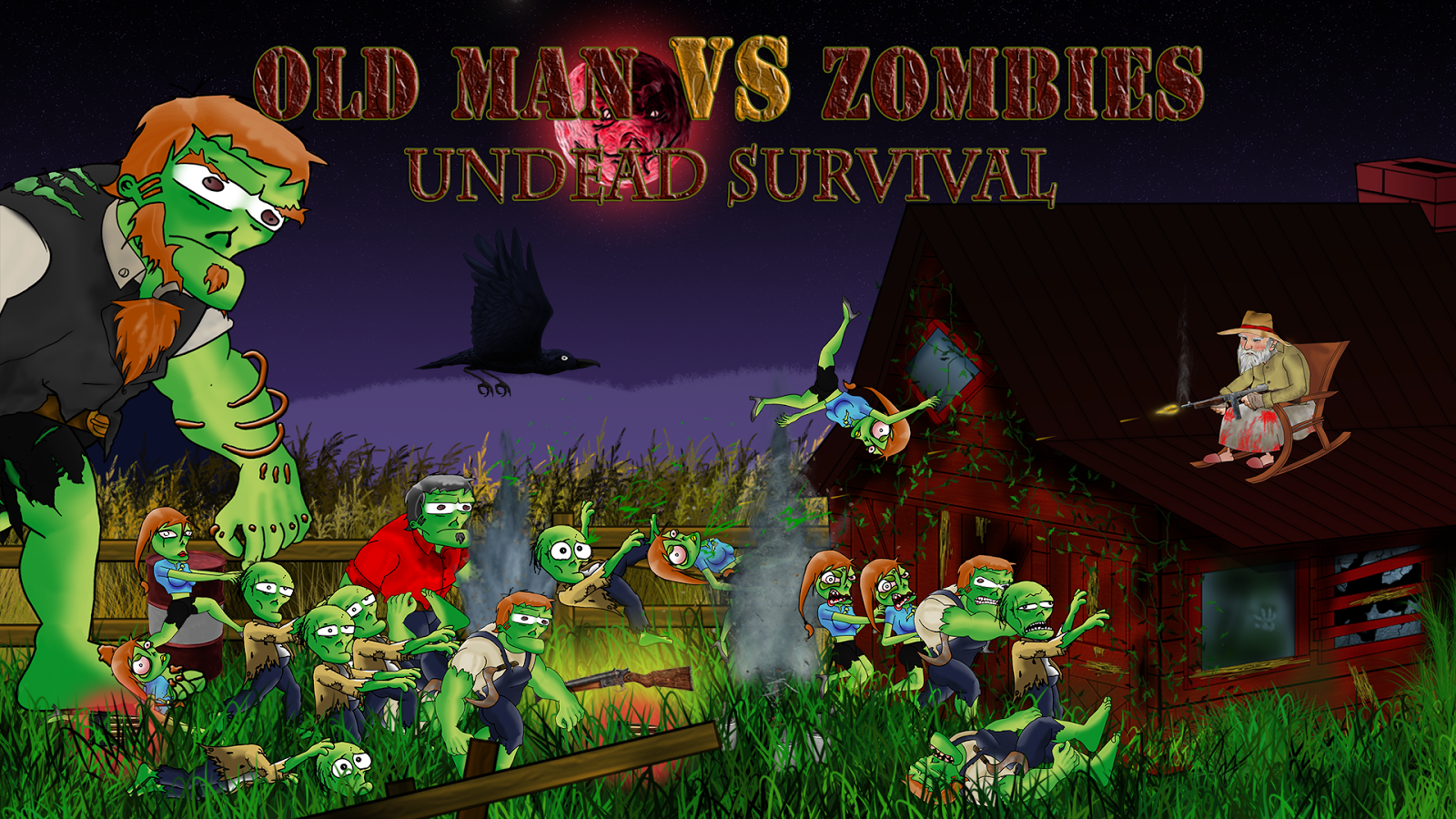 Oldman Vs Zombie survival Lite - screenshot