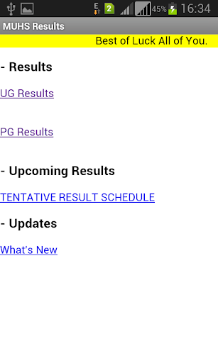 MUHS Results