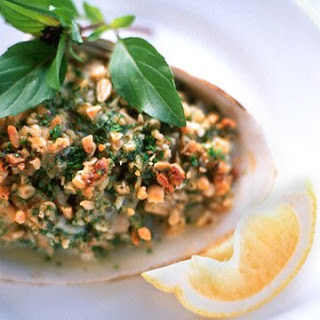 Baked Clams with Pine Nuts and Basil