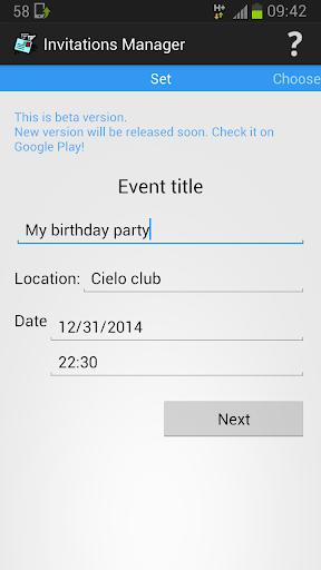 Invitations Manager-invite sms