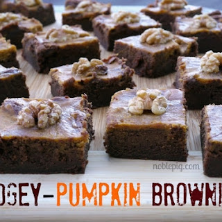 Fudgey-Pumpkin Brownies.
