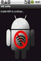 Screenshot of Wifi sniffer