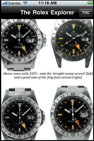 Rolex Explorer Encyclopedia - screenshot