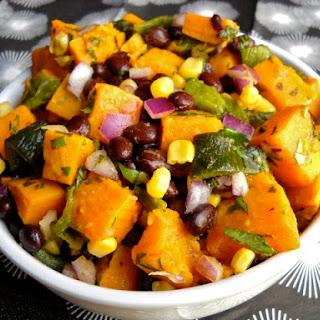 Roasted Poblano and Sweet Potato Salad.