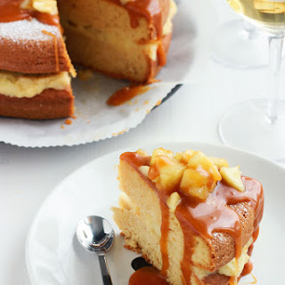 Apple Layer Cake with Salted Caramel