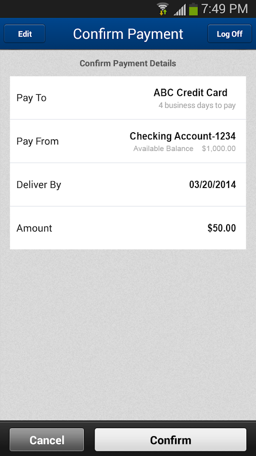 NSBank Mobile Banking - screenshot