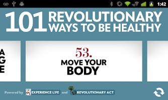 Screenshot of 101 Ways to Be Healthy