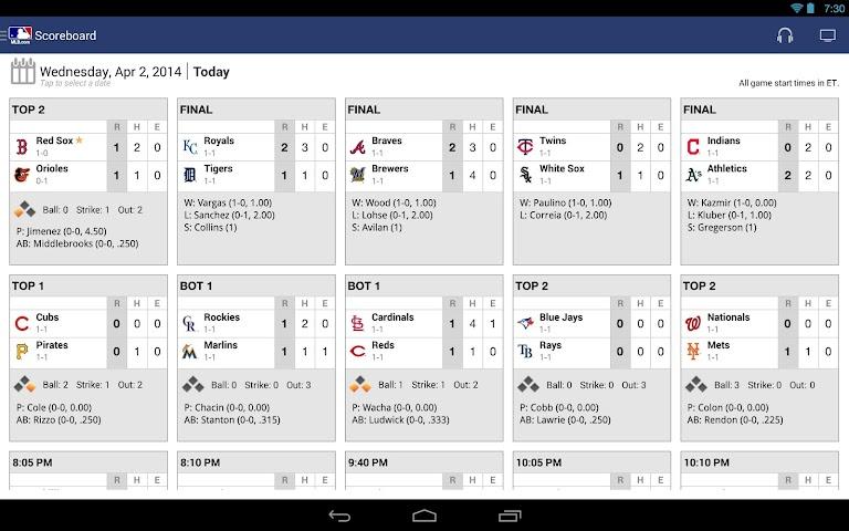 android MLB.com At Bat Screenshot 0