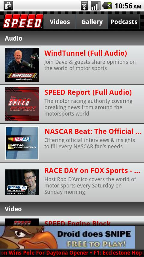 The Official SPEED Channel App- screenshot