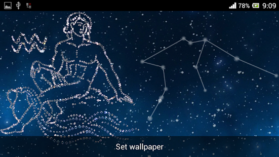 zodiac aquarius live wallpaper android apps on google play