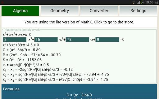 Solve geometry with MathX Lite 1.2.1 screenshots 4