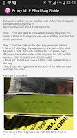 Screenshot of Brony MLP Blind Bag Guide
