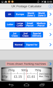 UK Postage Calc. eBay delivery- screenshot thumbnail
