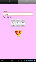 Screenshot of Love %: Compatibility Test