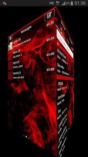 GO SMS Pro Theme Red Smoke - screenshot thumbnail