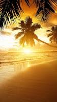 Screenshot of Beach Sunset Live Wallpaper