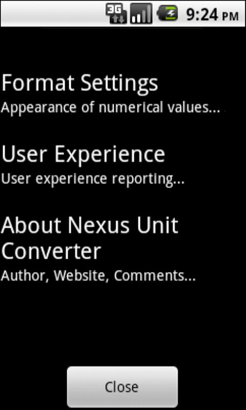 Nexus Unit Converter - screenshot