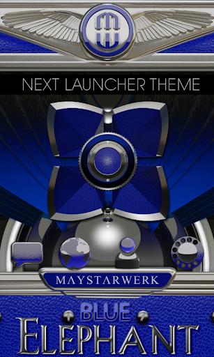 Next Launcher Theme Blue Eleph