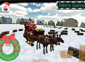 Screenshot of Santa Claus Sleigh Parking 3D