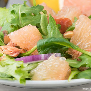 Grapefruit Smoked Salmon Salad - Coast to Coast Healthy Goodness