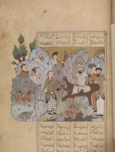 Bahram Gur wins the crown, from a Shahnama (Book of kings) by Firdawsi