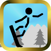 Snowboard game of Stick man