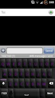 Screenshot of Blackout Purple Keyboard Skin