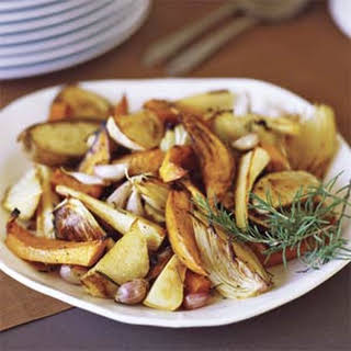 Oven-roasted Fall Vegetables.