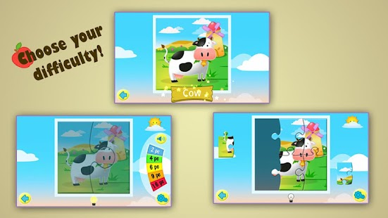 Kids Jigsaw Puzzles Farm HD - screenshot thumbnail