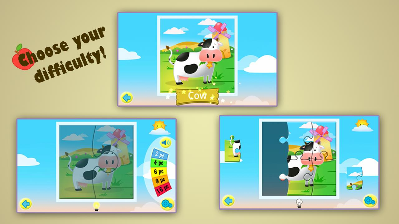 Kids Jigsaw Puzzles Farm HD - screenshot