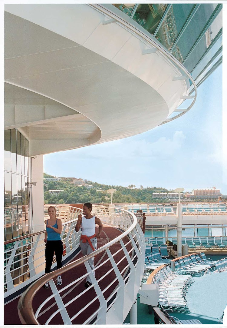 There's room on a dedicated track to jog or speed-walk during your Explorer of the Seas sailing.