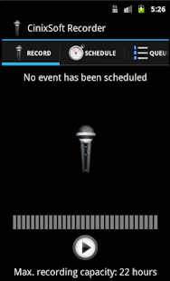 Schedule Voice Recorder- screenshot thumbnail