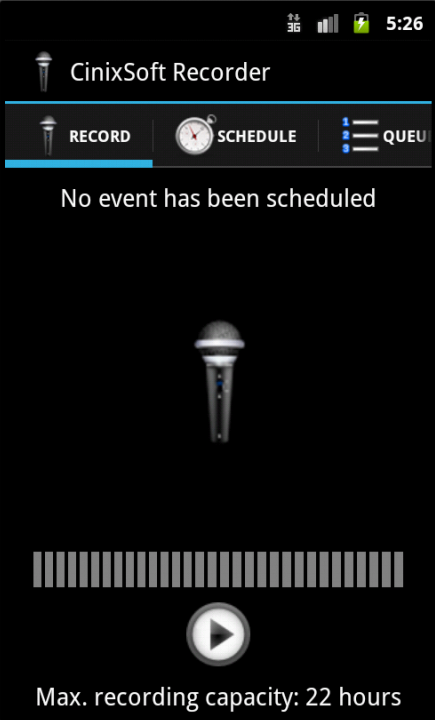 Calendar Voice Recorder - screenshot