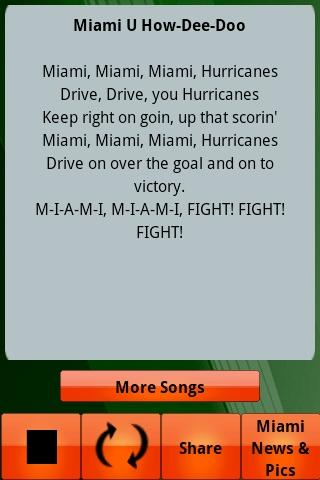 Miami Hurricanes Gameday - screenshot
